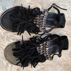 Coconuts Shira fringe sandals NWOT